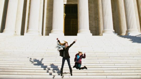 Kids on the Supreme Court Steps in Washington DC