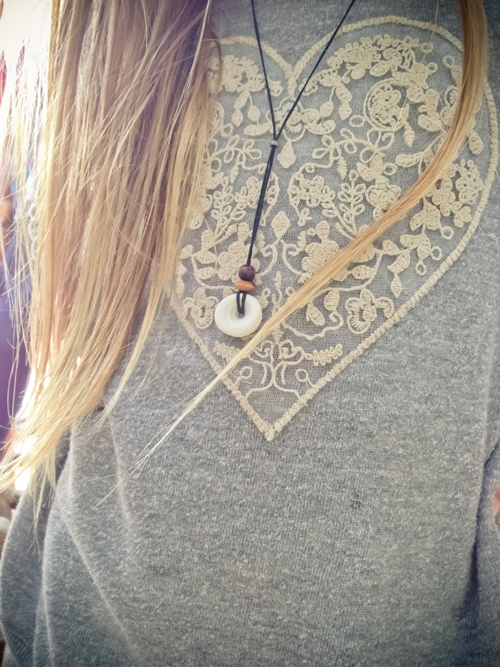 Button Shell Necklace and The Beauty of Being Unplugged