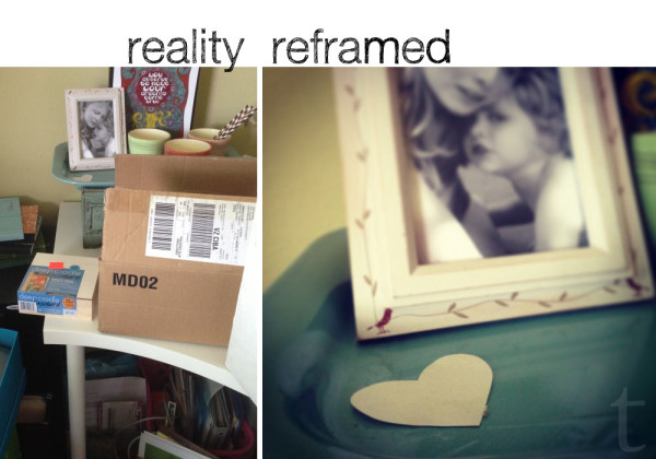 Reality Reframed table top tray